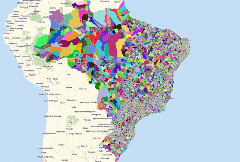 Map of Brazil Cities - Mapline