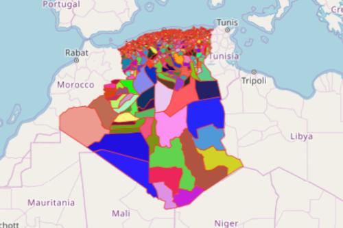 Algeria District Map