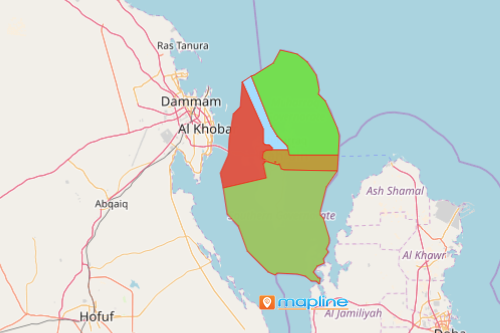 Map of Bahrain Governorates