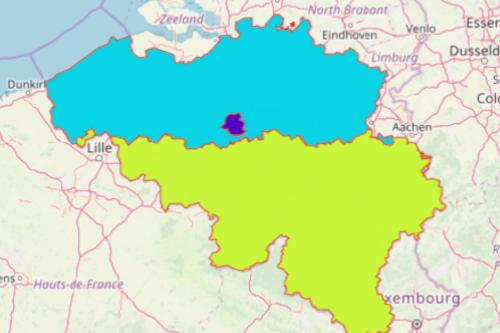 Belgium Region Map