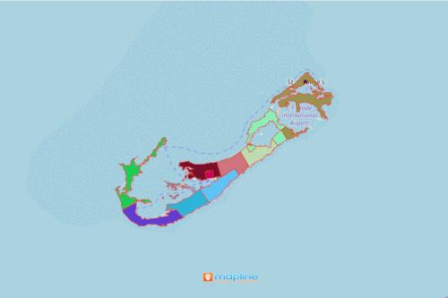 Mapping Parishes and Municipalities of Bermuda