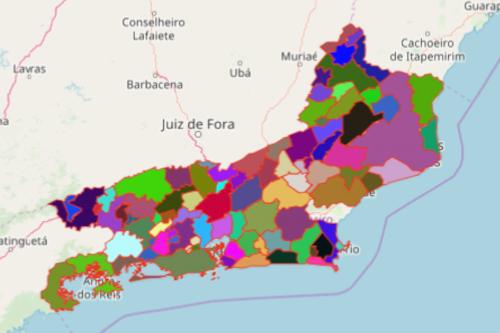 Rio de Janeiro Municipality map