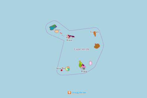 Municipality Map of Cape Verde