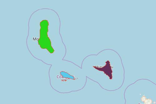 Map Islands of Comoros