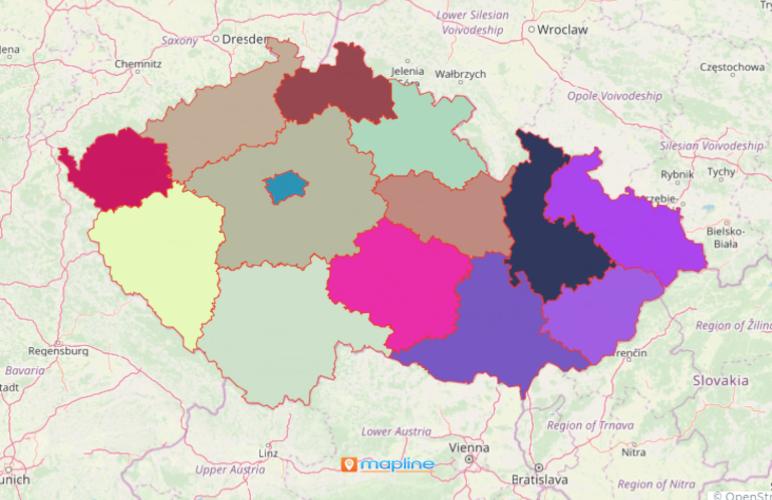 Mapping Czech Regions