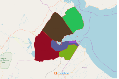 Region Map of Djibouti