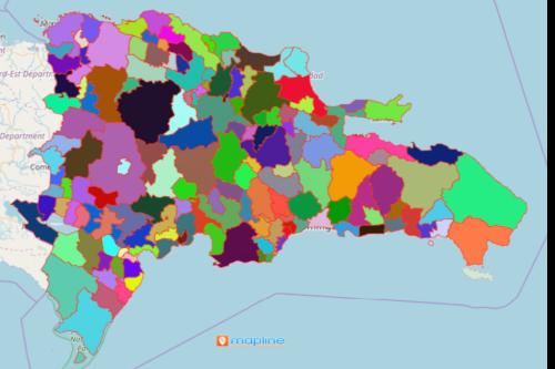 Mapping Municipalities of Dominican Republic