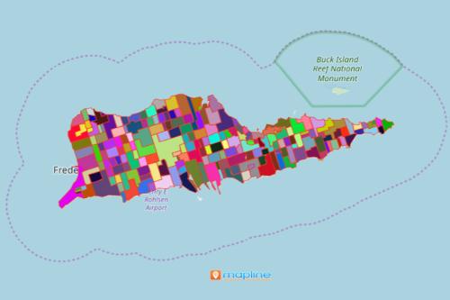 Mapping Estates of Virgin Islands