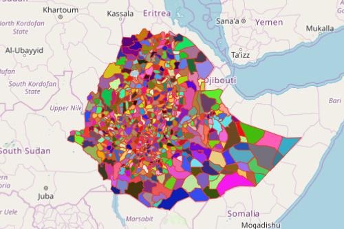 District Map of Ethiopia
