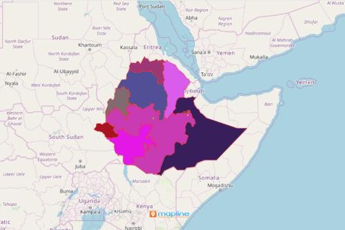Region Map of Ethiopia