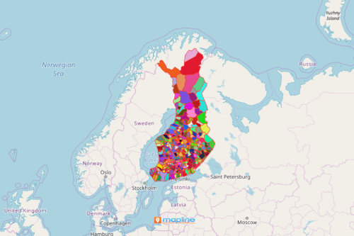 Finland Municipality Map