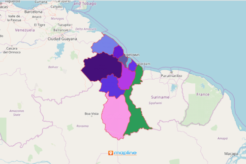 Guyana Region Map