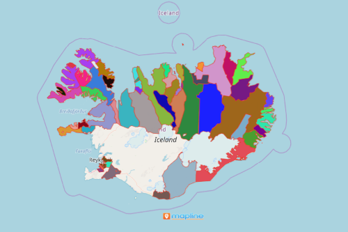 Mapping Iceland Municipalities