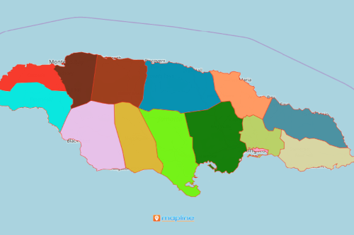 Mapping Parishes of Jamaica