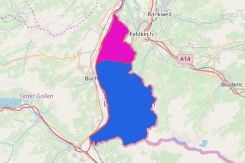 Liechtenstein District Map