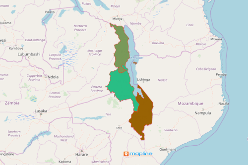 Malawi Region Map