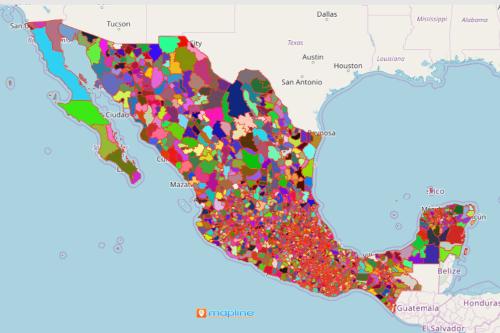 Mexico Municipality Map