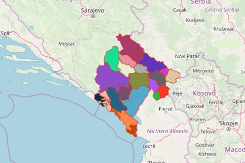 Mapping Municipalities of Montenegro