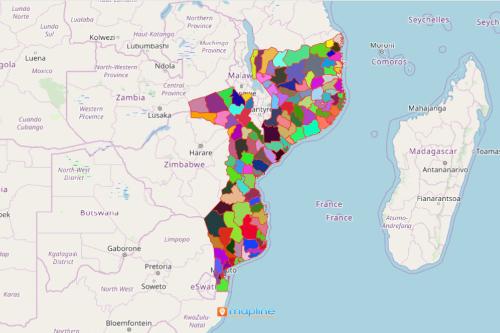 Mozambique District Map