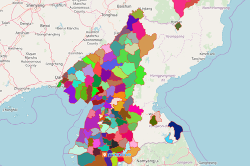 Mapping Counties of North Korea