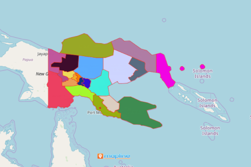 Mapping Provinces of Papua New Guinea