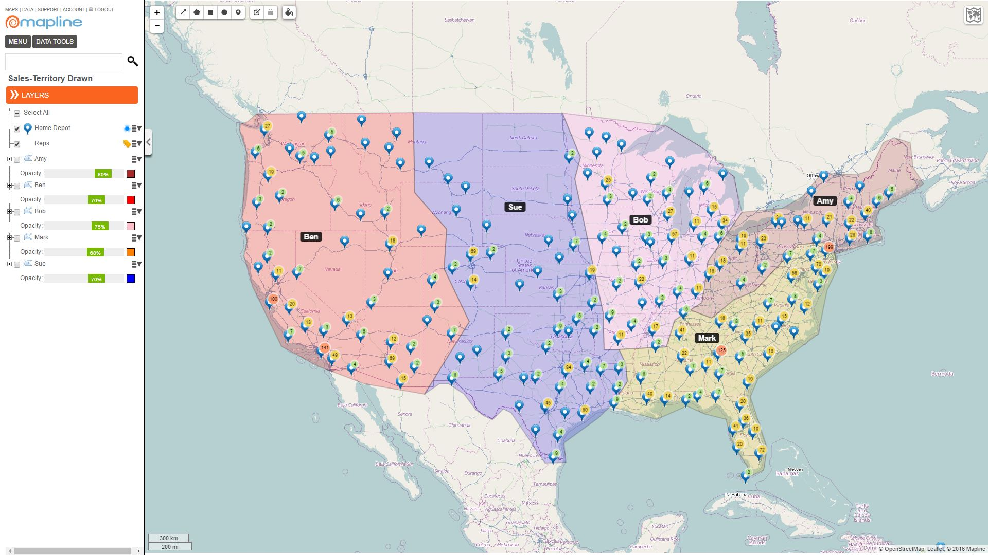 How to Map Sales Territory Reports - Mapline Territory ... Sales Territory Maps on sales territories map, service map, vendor map, city map, zip code map, sales influence map, sales forms,