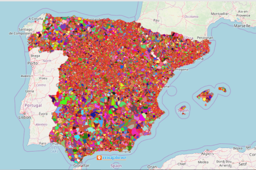Map of Municipalities of Spain