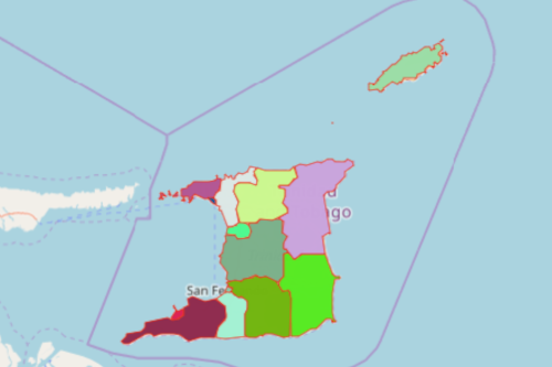 Map of Trinidad and Tobago Regions and Municipalities
