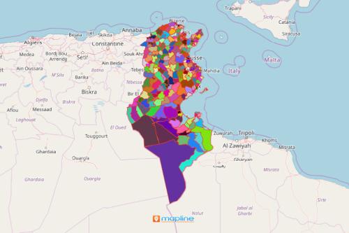 Tunisia District Map