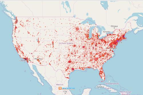 US Urban Area Map