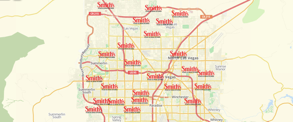Map of Smith's Food & Drug Stores