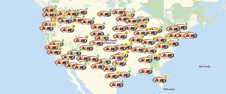 A&W Restaurant Locations