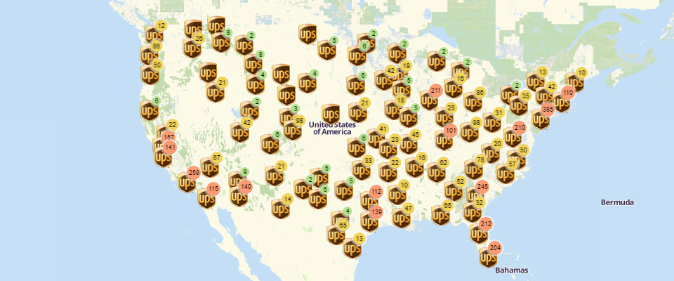 Beat the Challenge of Mapping All UPS Store Locations
