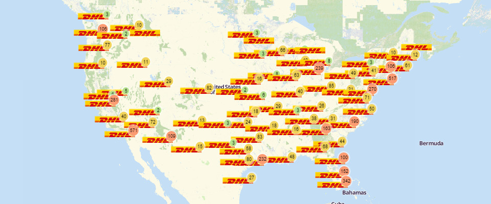 DHL Locations Map