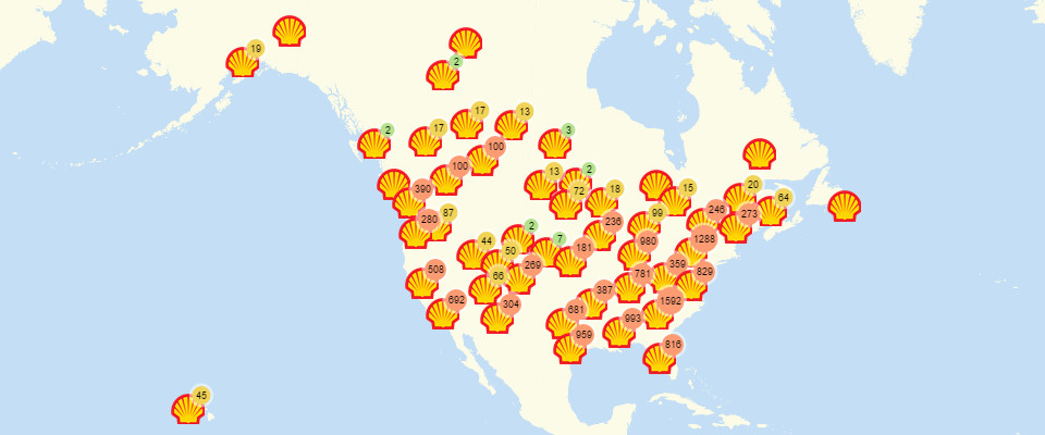 Mapping Shell Gas Stations Made More Sense with Mapline