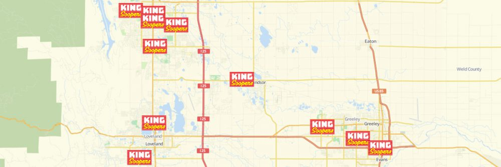 Map of King Soopers Locations
