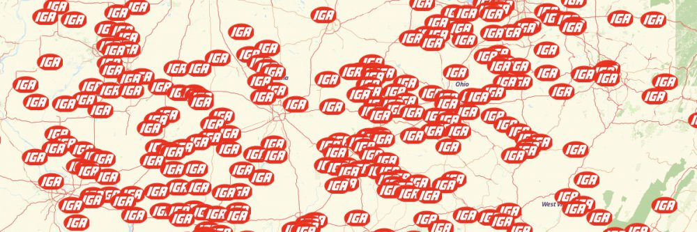 Map of IGA Stores
