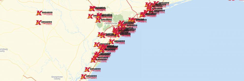 Map of Kangaroo Express Locations