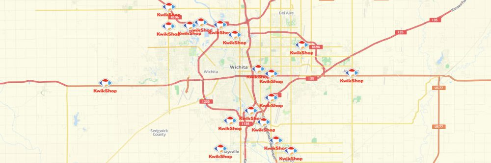 Map of Kwik Shop Locations