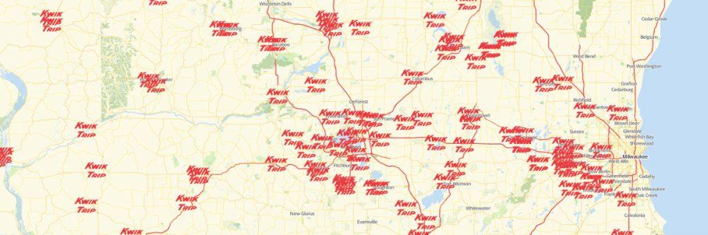 map of kwik trip locations