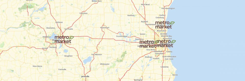 Map of Metro Market Locations