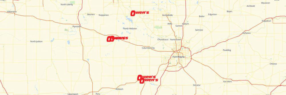 Map of Owens Market Locations