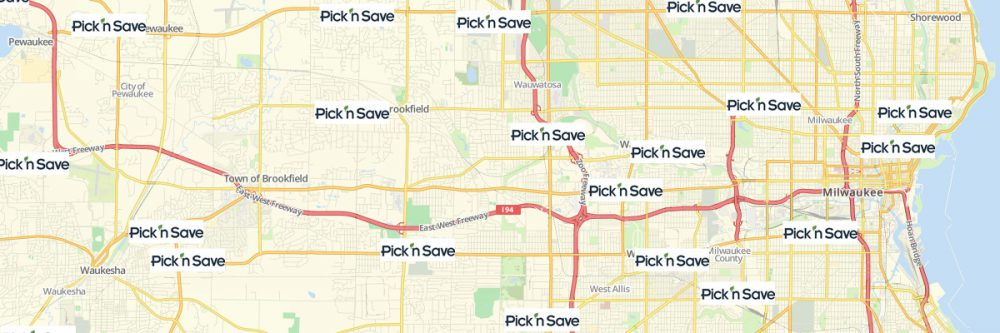 Map of Pick 'n Save Locations