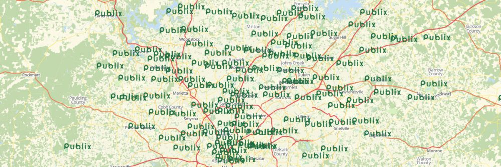 Create a Map of All Publix Locations