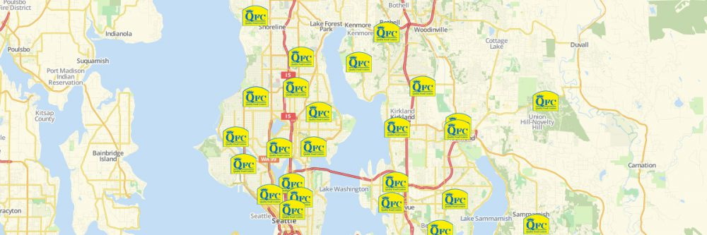 Map of QFC Locations