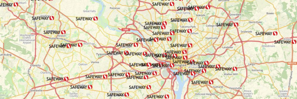 Map of Safeway Stores