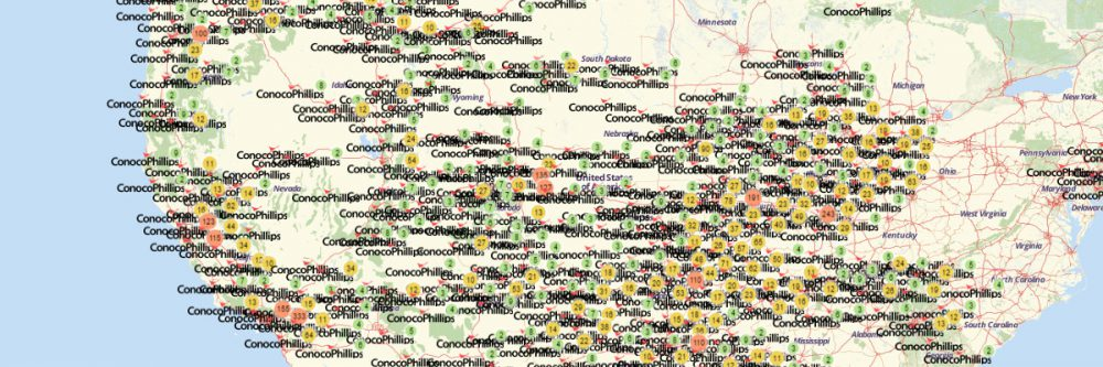 The Easiest Steps to Make a Map of ConocoPhillips Gas Stations