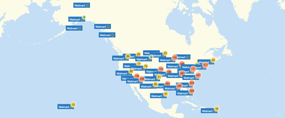 Walmart Store Locations Map