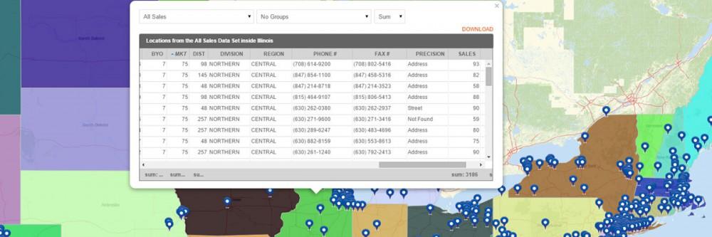 Territory Map Reporting