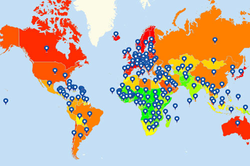Map International Locations Plot And Visualize Your Data Globally